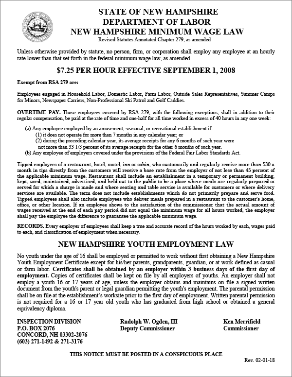 NH Employment Laws